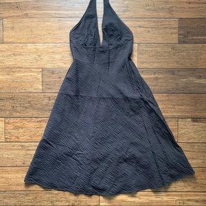 J. Crew Dresses - Brown Scrunch Wrinkle Quilt Stitch Halter Dress